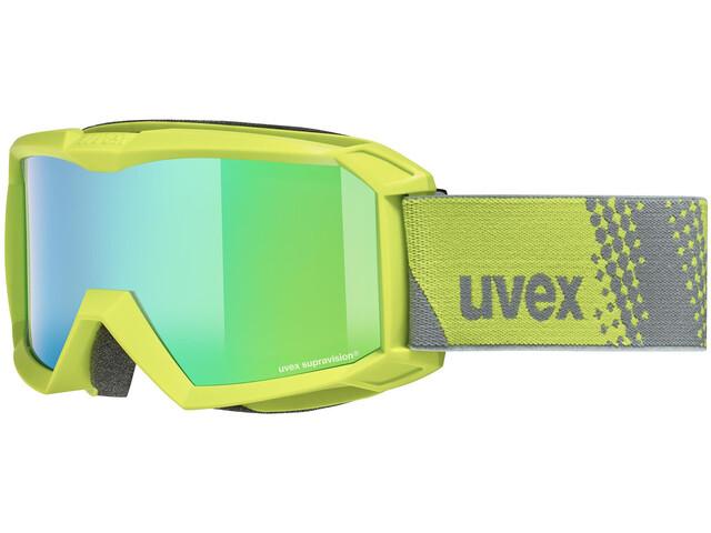 UVEX Flizz FM Lunettes de protection Enfant, lime/mirror green